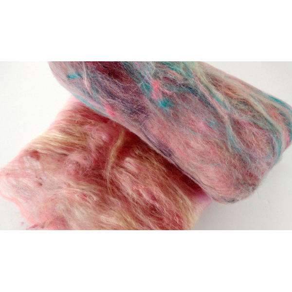 Spinning Batts - Coho 50 g merino silk corriedale bluefaced leicester