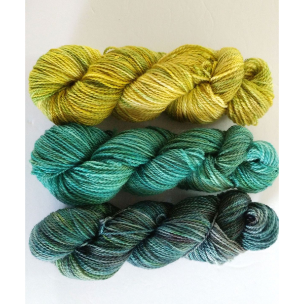 fade yarn set - 3x115g (3x 4oz) - hand-dyed fingering weight fade set MERMAID
