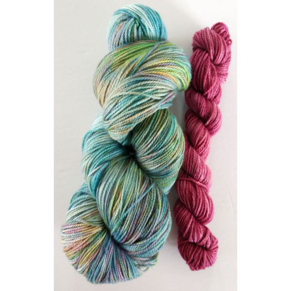hand-dyed merino + cashmere sock yarn kit AHOY