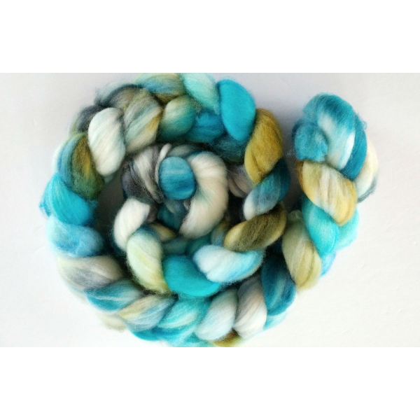 hand-dyed merino roving by oceanwind knits