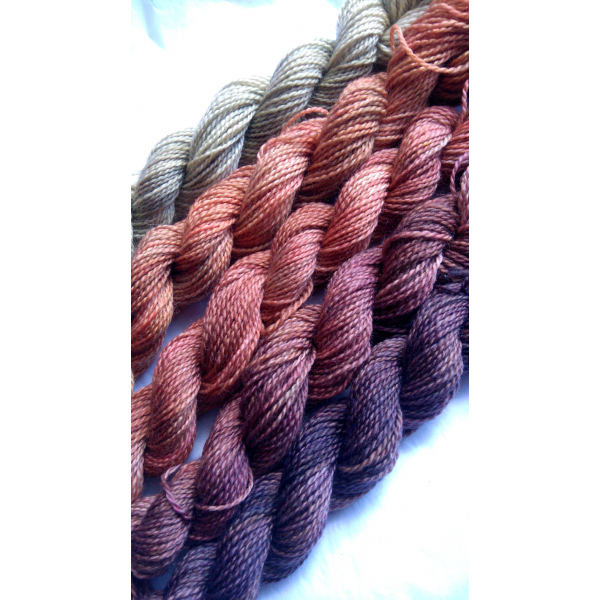 gradient fade yarn set - 5 x 115g 2100+ yards - hand-dyed fingering GRACIOUS