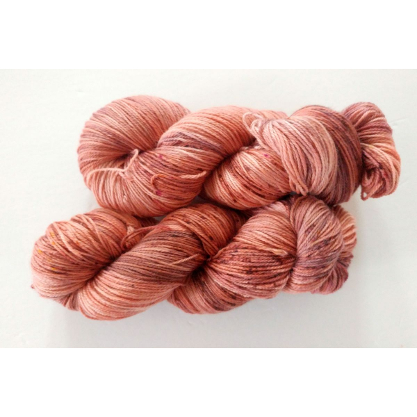 hand-dyed merino + nylon sock yarn CLAY