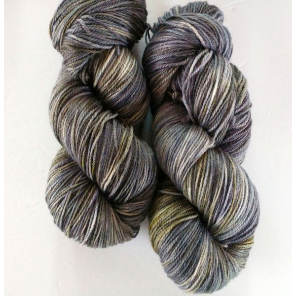 hand-dyed merino + nylon sock yarn CONTEMPLATION