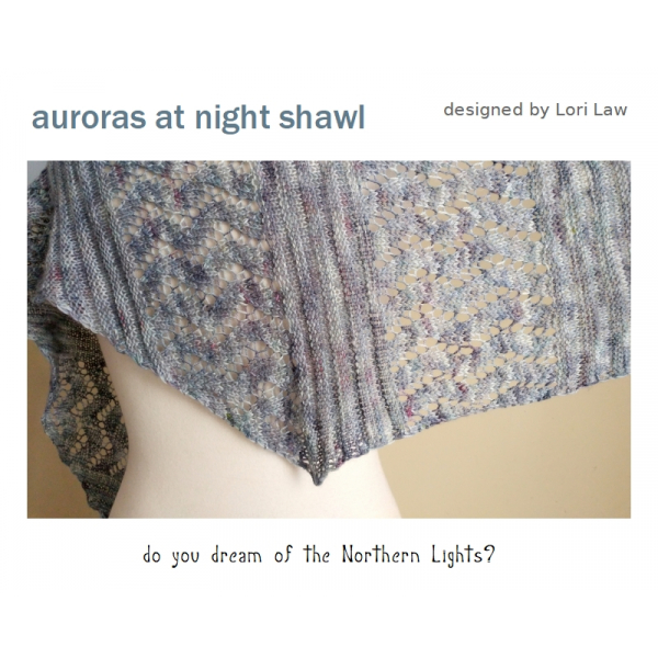 Auroras at Night Shawl Knitting Kit