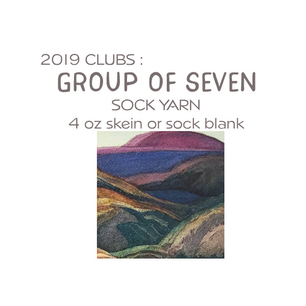 Hand-dyed Sock Yarn Club Group of Seven