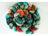 hand-dyed merino spinning roving by oceanwind knits