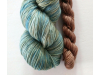 hand-dyed merino + cashmere sock yarn set BEACHES