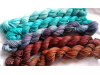 gradient fade yarn set - 5 x 115g 2100+ yards - hand-dyed fingering CANADIAN MAP