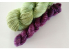 hand-dyed merino sock yarn kit GREEN TEA