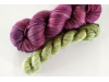 hand-dyed merino sock yarn kit ELDERBERRY