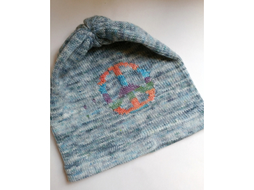 knitted hat : peace cloud