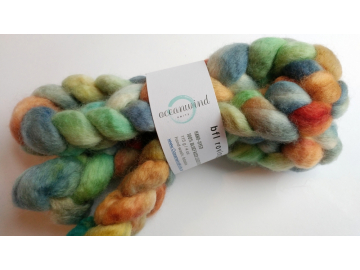hand-dyed bluefaced leicester wool roving 4 oz. - 1967