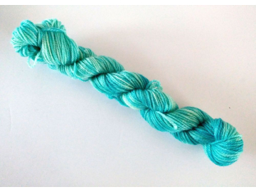 Mini Skein - heels and toes, 25 g / 91 yards - CYAN
