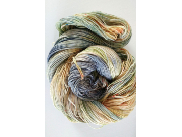hand-dyed merino + nylon sock yarn BLUE SKIES