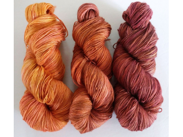 fade yarn set - 3x115g (3x 4oz) - hand-dyed fingering weight fade set OAK