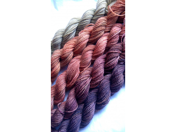 gradient yarn set - 125g (25g each skein) 440 yards total - hand-dyed merino fin