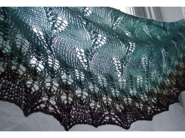 Duskywing Shawl Knitting Pattern PDF