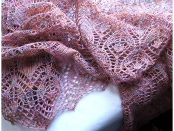 Lutea Shawl Knitting Pattern PDF
