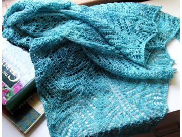 Oyster Bay Shawl Knitting Pattern PDF