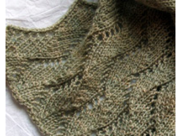 Waving Scarf Knitting Pattern PDF
