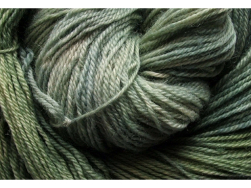 thyme BFL hand-dyed wool