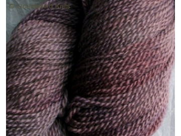 grape BFL hand-dyed wool