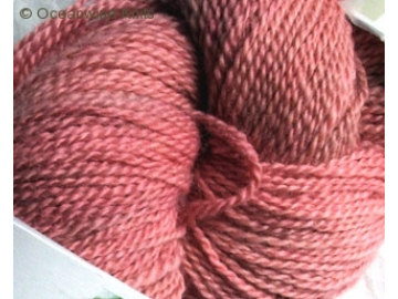 currant BFL hand-dyed wool