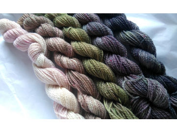 hand-dyed gradient yarn set merino fingering