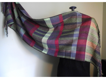 handwoven cotton + linen shawl/wrap