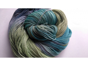 hand-dyed merino + nylon sock yarn
