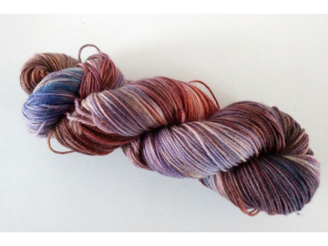 hand-dyed merino + nylon sock yarn OXIDE