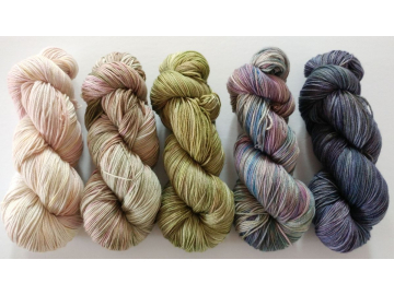 gradient fade yarn set - 5 x 115g 2100+ yards - hand-dyed fingering AUSTEN