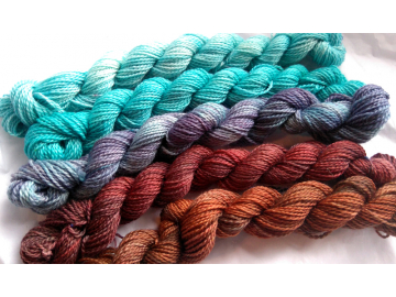 gradient yarn set - 125g (25g each skein) 455 yards total - hand-dyed merino fingering CANADIAN MAPLE