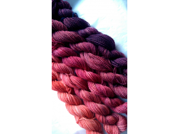 gradient yarn set - 125g (25g each skein) 440 yards total - hand-dyed merino fingering BRAZEN