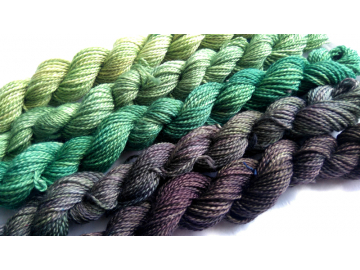 fade yarn set -5 x 115g 2100+ yards - hand-dyed fingering BERYL