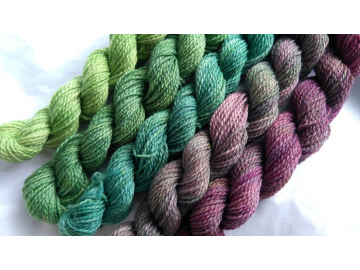 gradient yarn set - 125g (25g each skein) 455 yards total - hand-dyed merino fingering SPRING MIX