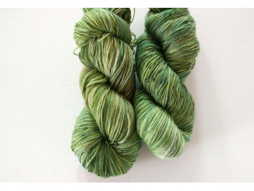 hand-dyed merino + nylon sock yarn MOSSY