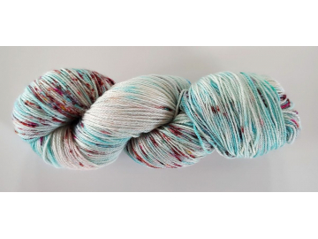 hand-dyed merino + nylon sock yarn ROBIN'S EGG