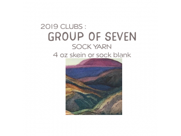 2019 Sock Yarn Group of Seven Subscription (Shipping included!)