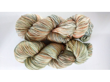 hand-dyed merino + nylon sock yarn TAOS