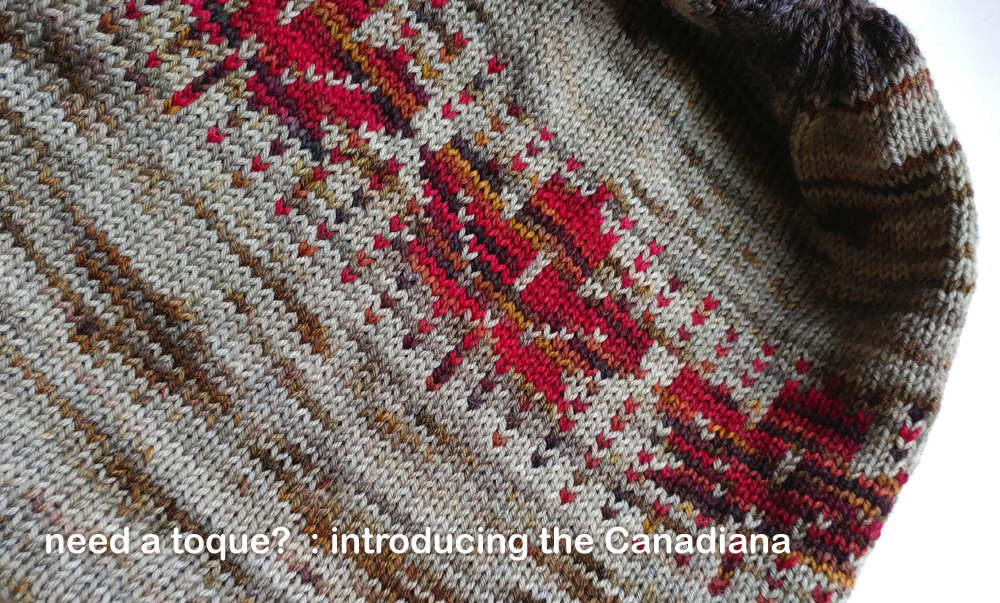 the Canadiana : a knitted toque by Lori Law